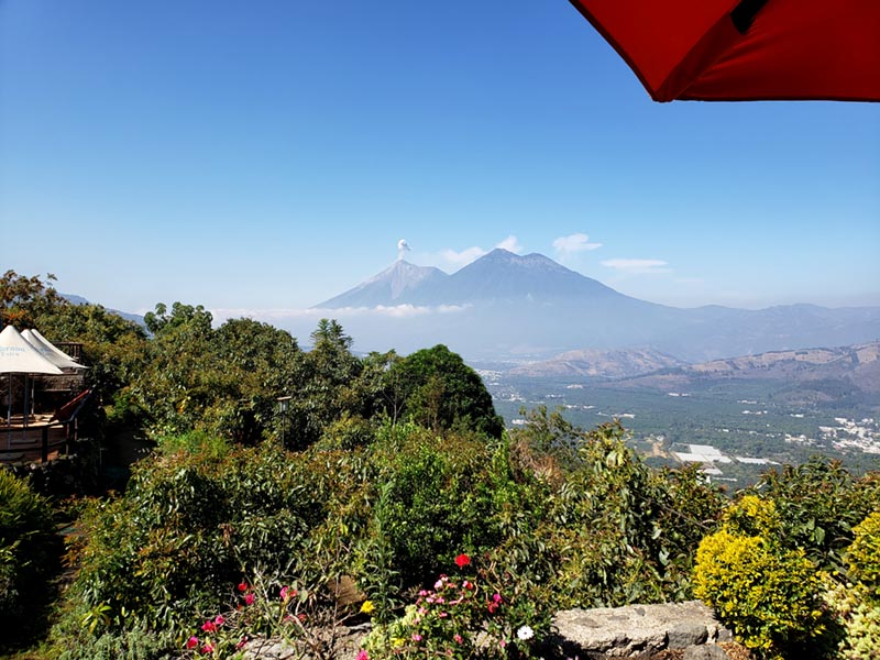 View from Cerro San Cristóbal near Antigua - Guatemala